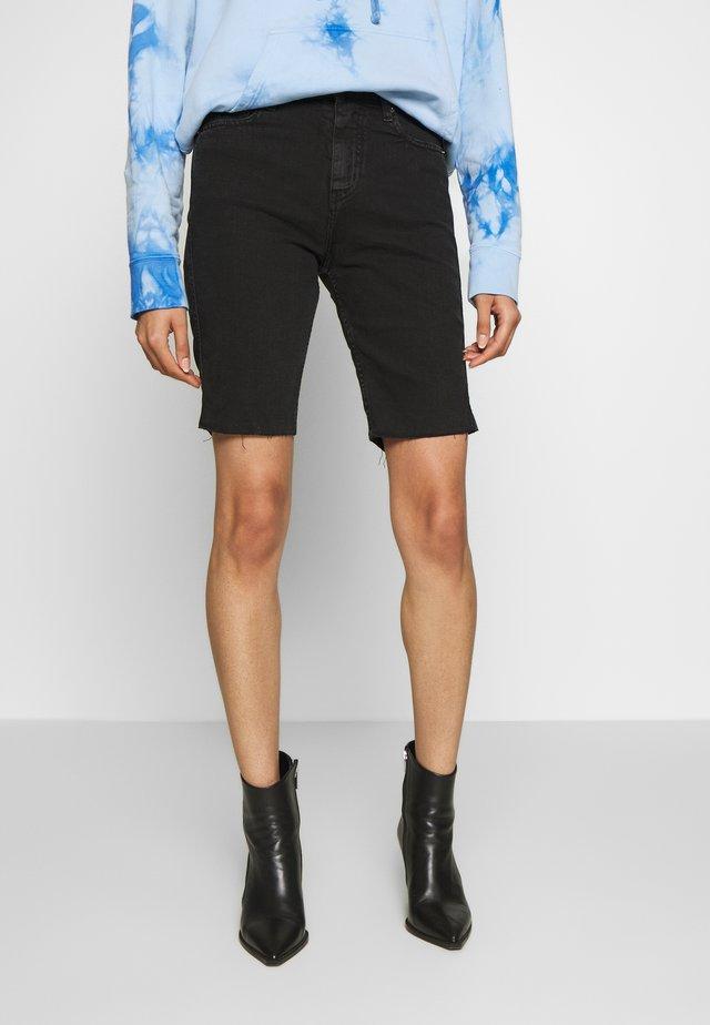 BIRHAK - Szorty jeansowe - used black