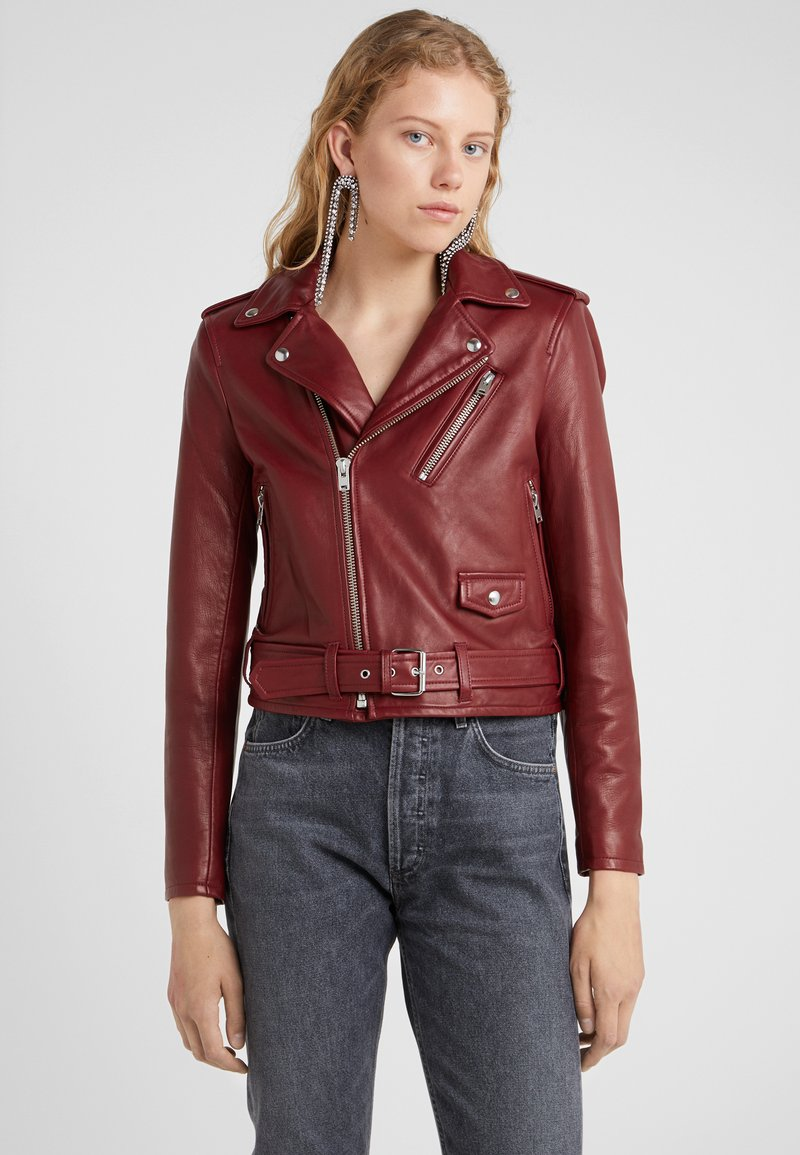 Iro - Leather jacket - cardinal red