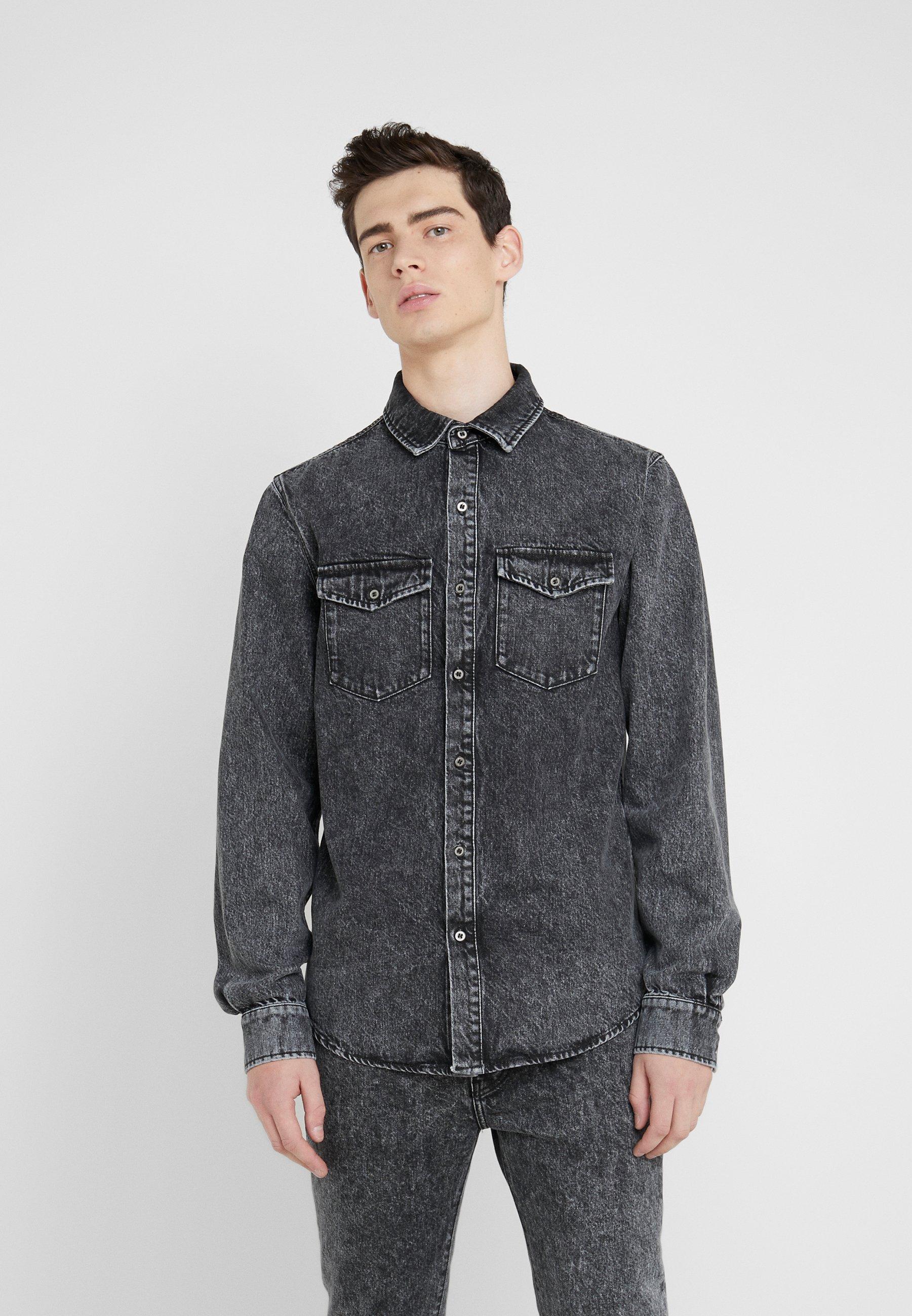 Iro WAIPIO - Hemd - dark grey   Herrenbekleidung 2020