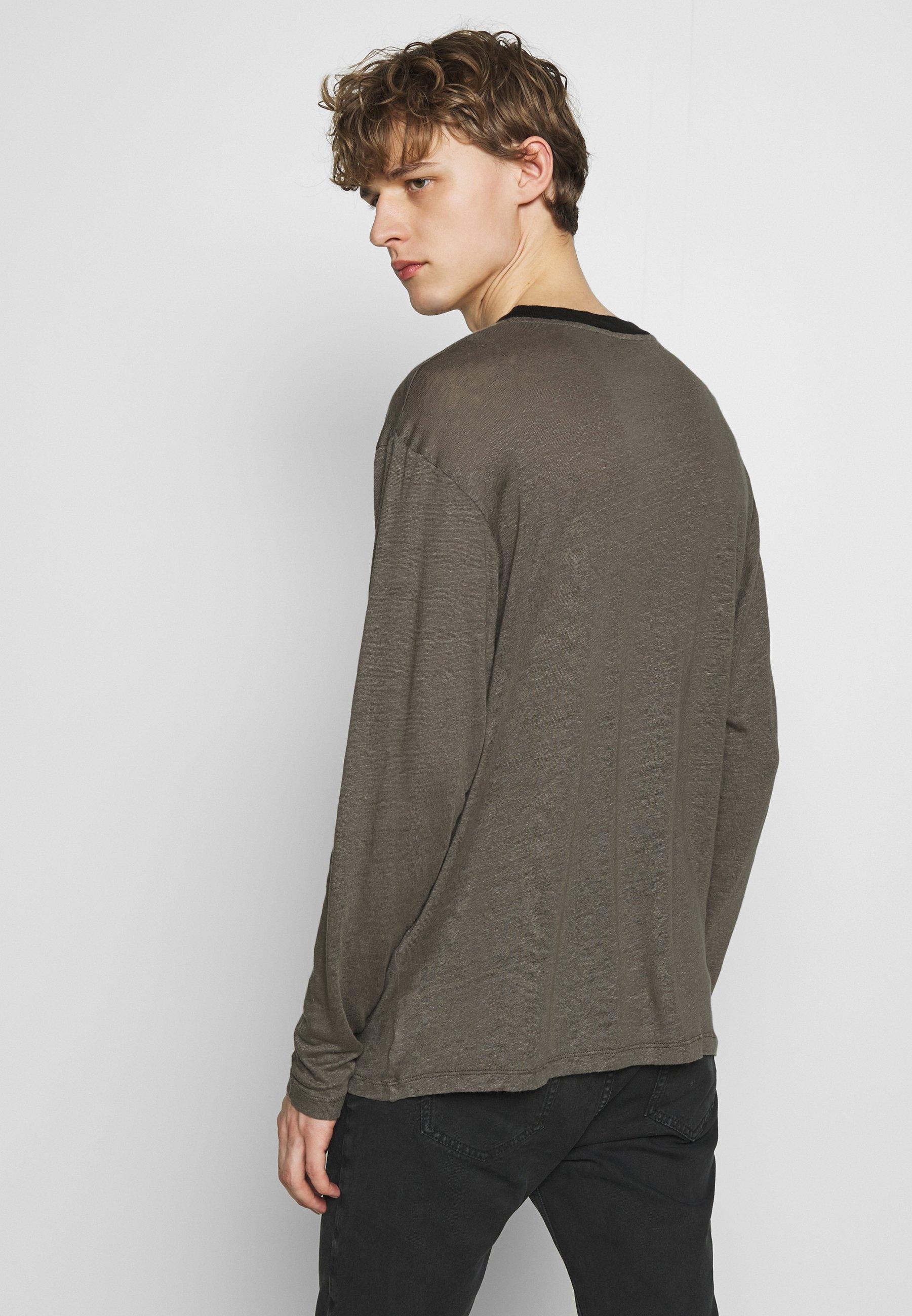 Iro DEERTON - Bluzka z długim rękawem - dark khaki/khaki