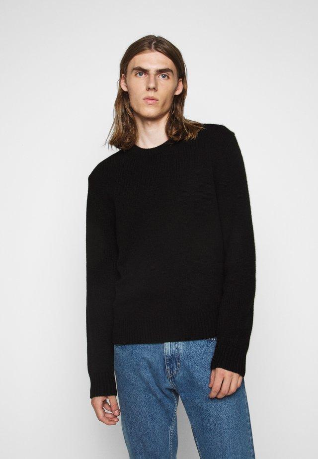 RICK - Stickad tröja - black