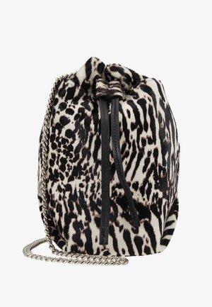 Across body bag - black zebre/washed grey