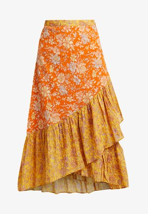 SKIRT - A-snit nederdel/ A-formede nederdele - yellow/multi-coloured