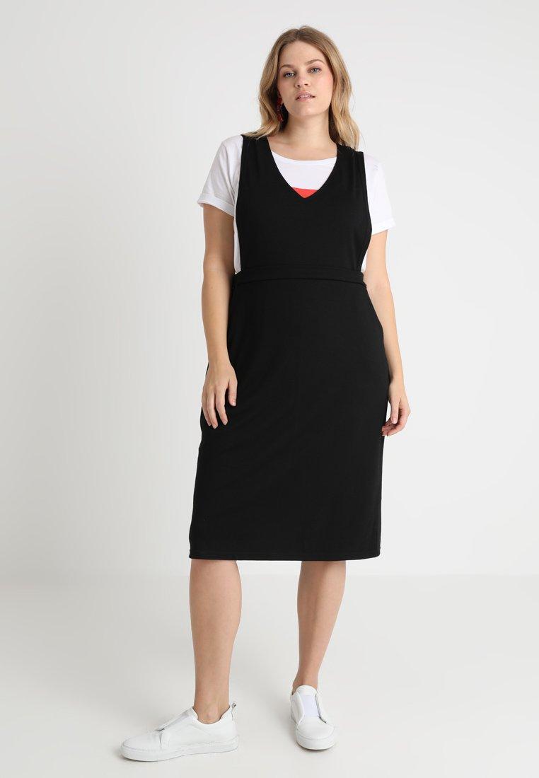 I.scenery - JRIINKA BELOW KNEE DRESS - Jersey dress - black