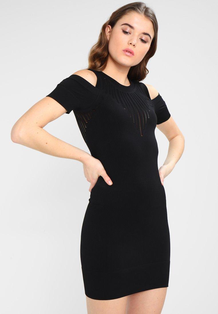 Ivy Park - COLD SHOULDER DRESS - Pouzdrové šaty - black