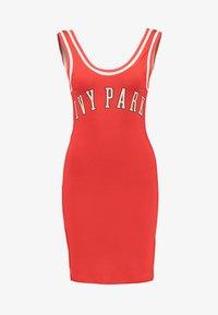 Ivy Park - BASEBALL LOGO BODYCON DRESS - Robe en jersey - fiery red - 3