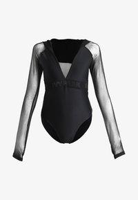 Ivy Park - REGAL DRAPE HOODED BODY - Long sleeved top - black - 4