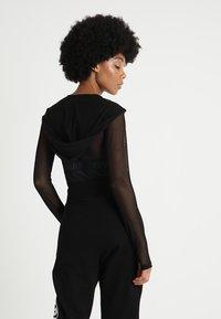 Ivy Park - REGAL DRAPE HOODED BODY - Long sleeved top - black - 2