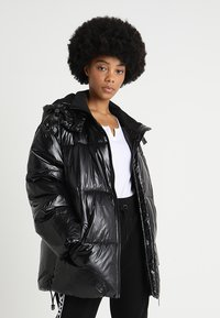 Ivy Park - METALLIC PUFFER - Winter coat - black - 0