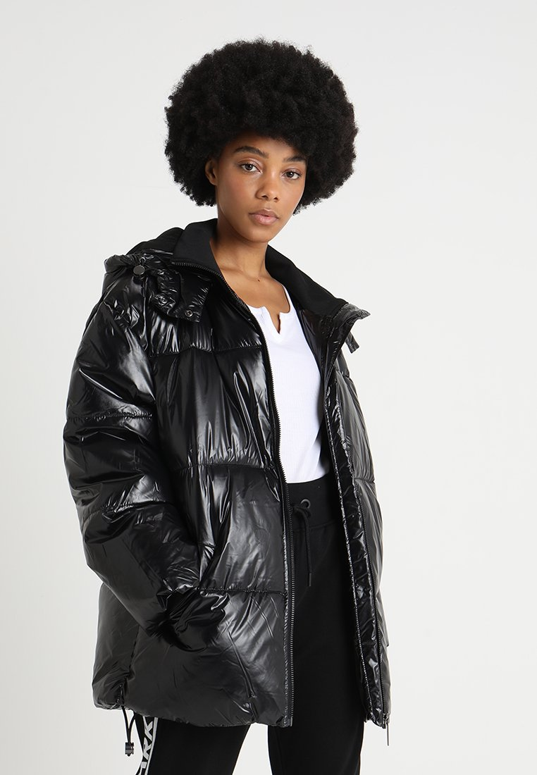 Ivy Park - METALLIC PUFFER - Winter coat - black