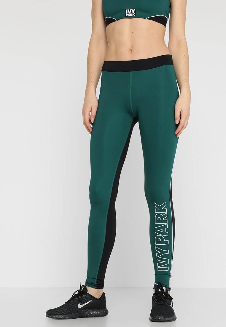 Ivy Park - ACTIVE DRAWCORD ELASTIC LEGGINGS - Punčochy - forest green