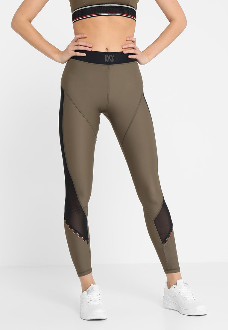 Ivy Park - LACE UP INSERT LEGGINGS - Collants - crocodile