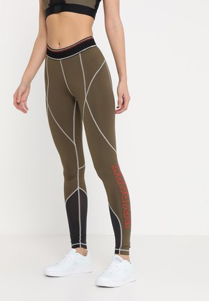 CONTRAST STITCH LOGO ACTIVE - Leggings - crocodile