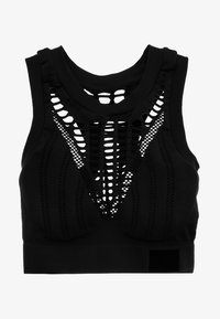 Ivy Park - SEAMLESS DOUBLE RIB COLLAR BRA - Sports bra - black - 4