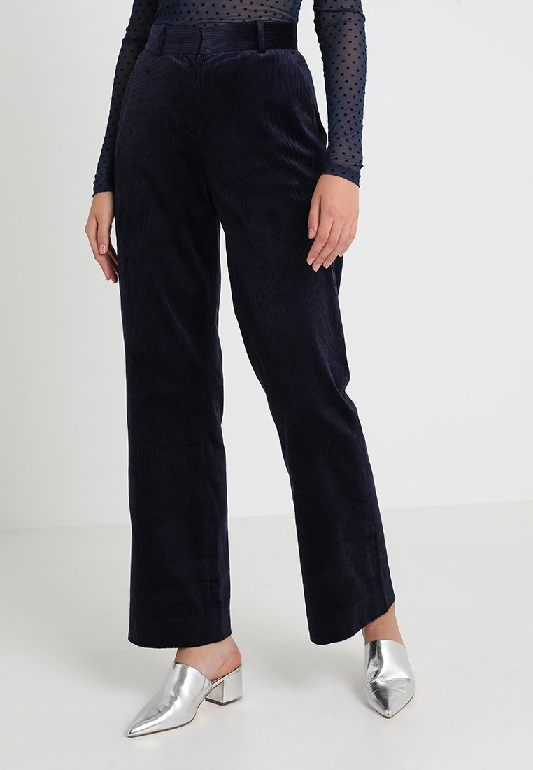 IVY & OAK - PANTS - Stoffhose - navy blue