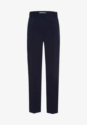 CROPPED PANTS - Pantalon classique - navy blue