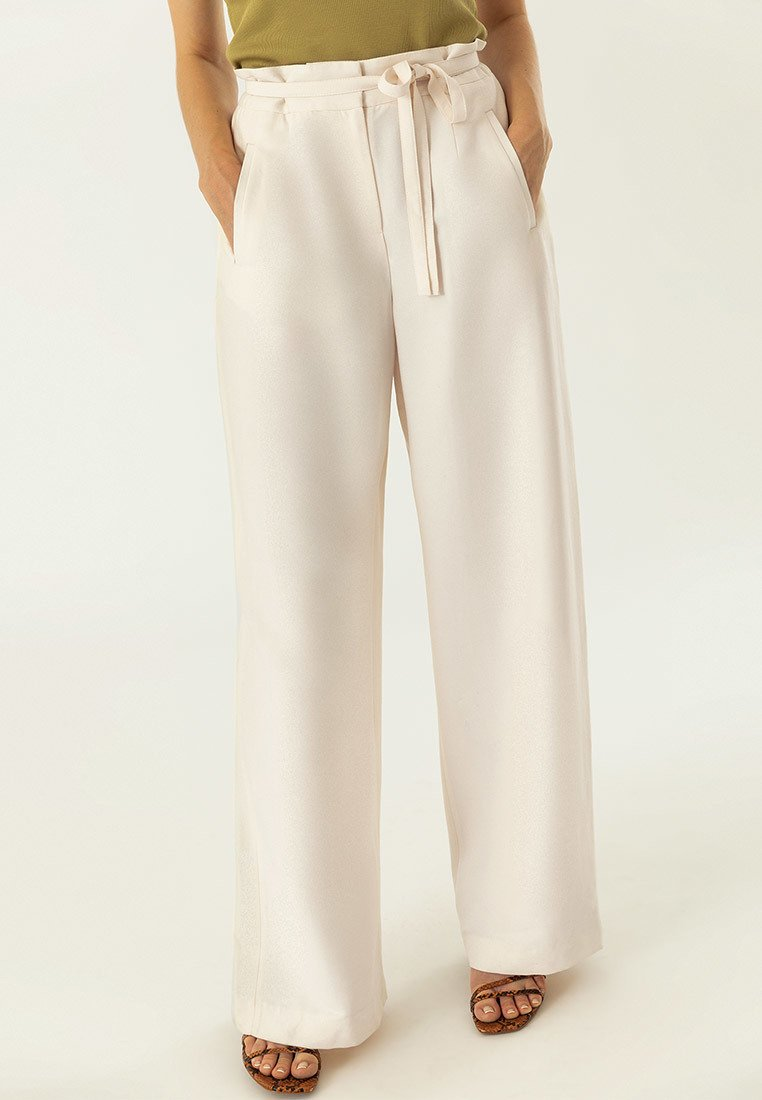 IVY & OAK - OCCASION WIDE PANTS - Pantaloni - yellow