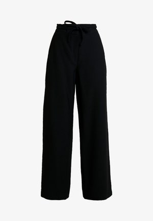 OCCASION WIDE PANTS - Spodnie materiałowe - black