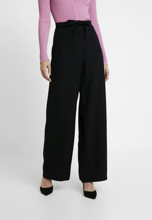 OCCASION WIDE PANTS - Tygbyxor - black