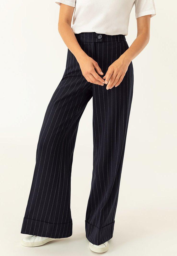IVY & OAK - Pantalon classique - navy blue