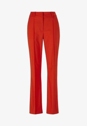 Pantalon classique - mandarin red