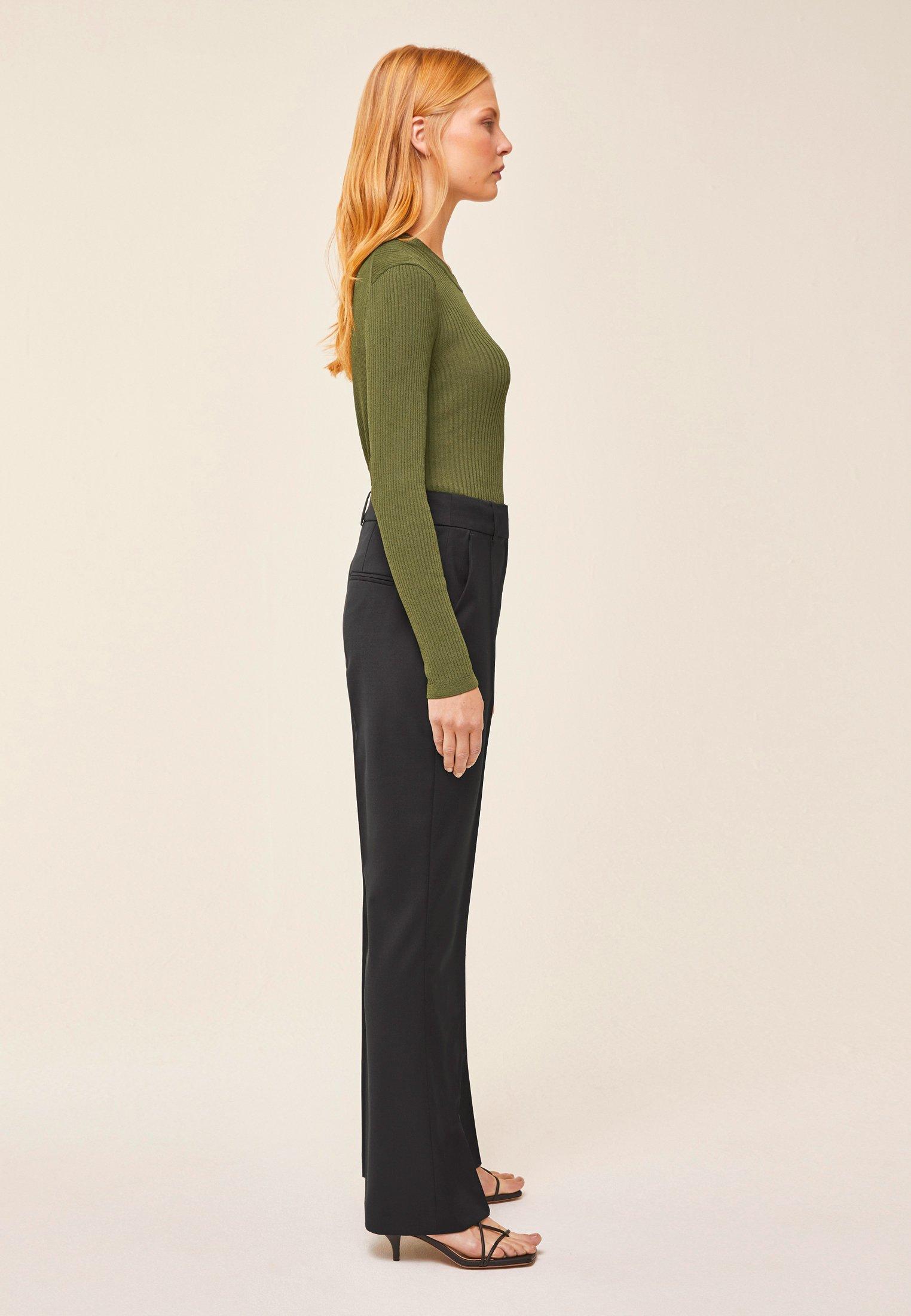 IVY & OAK Spodnie materiałowe - black