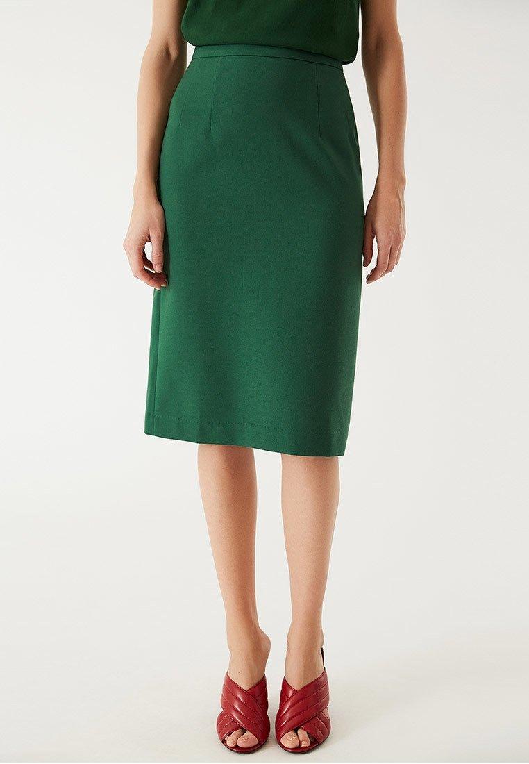 IVY & OAK - Spódnica ołówkowa  - eden green