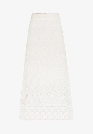 GRAPHIC SKIRT - Długa spódnica - snow white
