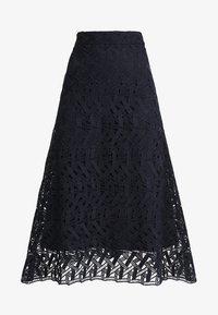 IVY & OAK - GRAPHIC SKIRT - Maxi skirt - navy blue - 3