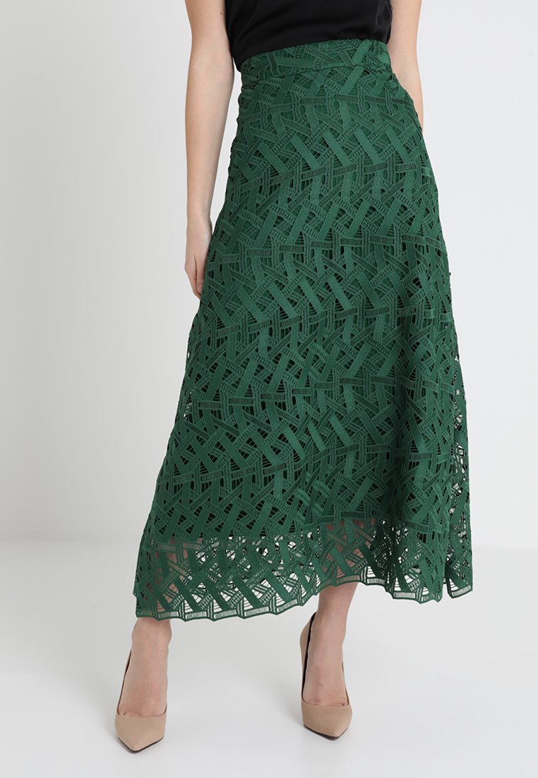 IVY & OAK - GRAPHIC SKIRT - Maxi skirt - eden green