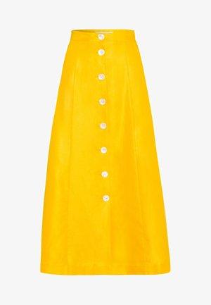 Jupe trapèze - sun yellow