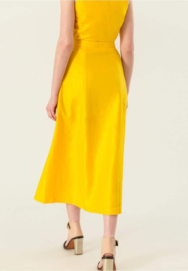 IVY & OAK - A-line skirt - sun yellow
