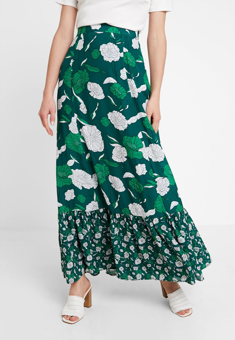 IVY & OAK - BOHEMIAN SKIRT - Maxi skirt - evergreen