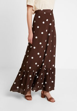 BOHEMIAN SKIRT - Maxikjol - dark chocolate