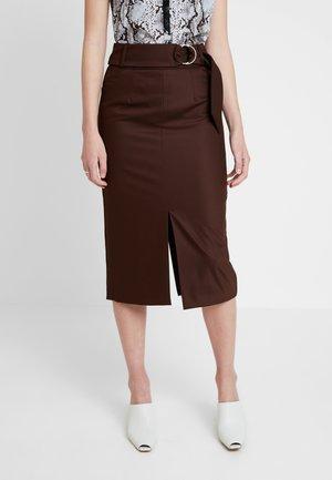 Spódnica ołówkowa  - dark chocolate