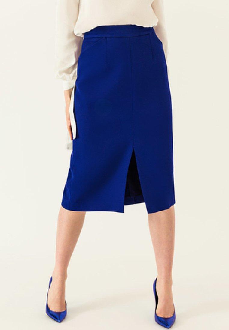 IVY & OAK - Pencil skirt - illuminated blue