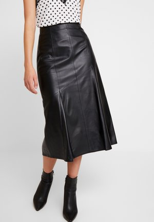MIDI PENCIL SKIRT - Jupe trapèze - black