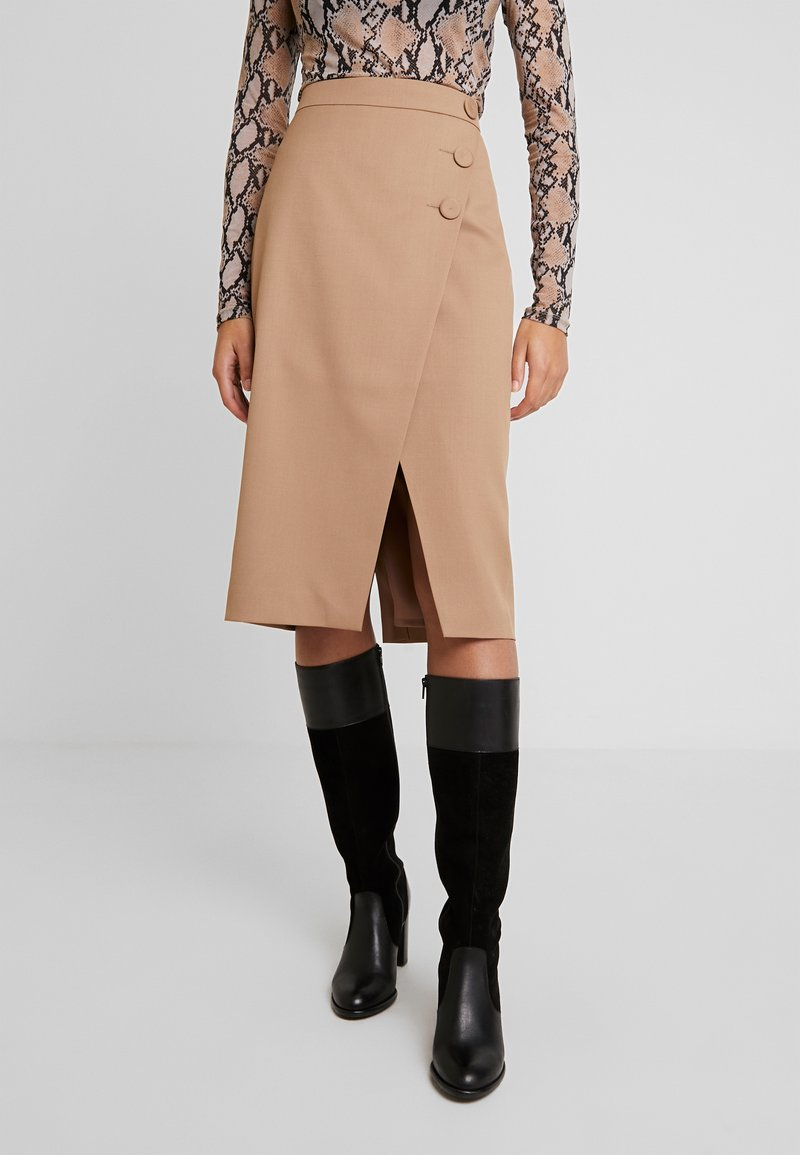 IVY & OAK - PENCIL SKIRT - Jupe crayon - dark toffee