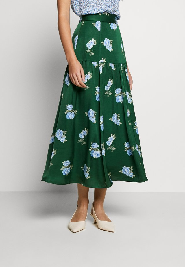 Maxi skirt - porcelain - eden green