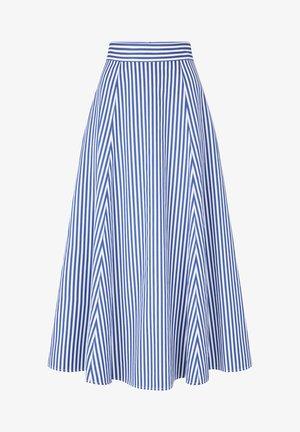 STRIPED SKIRTANCLE LENGTH - Maxi skirt - blue