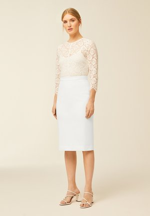 PENCIL SKIRT - Pencil skirt - white