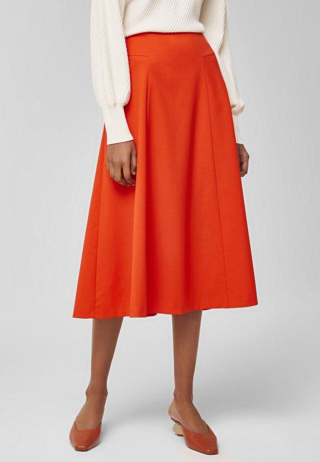 AUSGESTELLTER  - A-line skirt - mandarin red