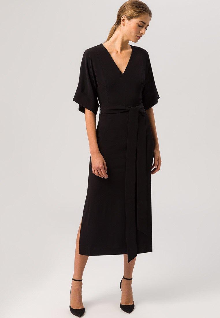 IVY & OAK - KIMONO DRESS - Vestito lungo - black