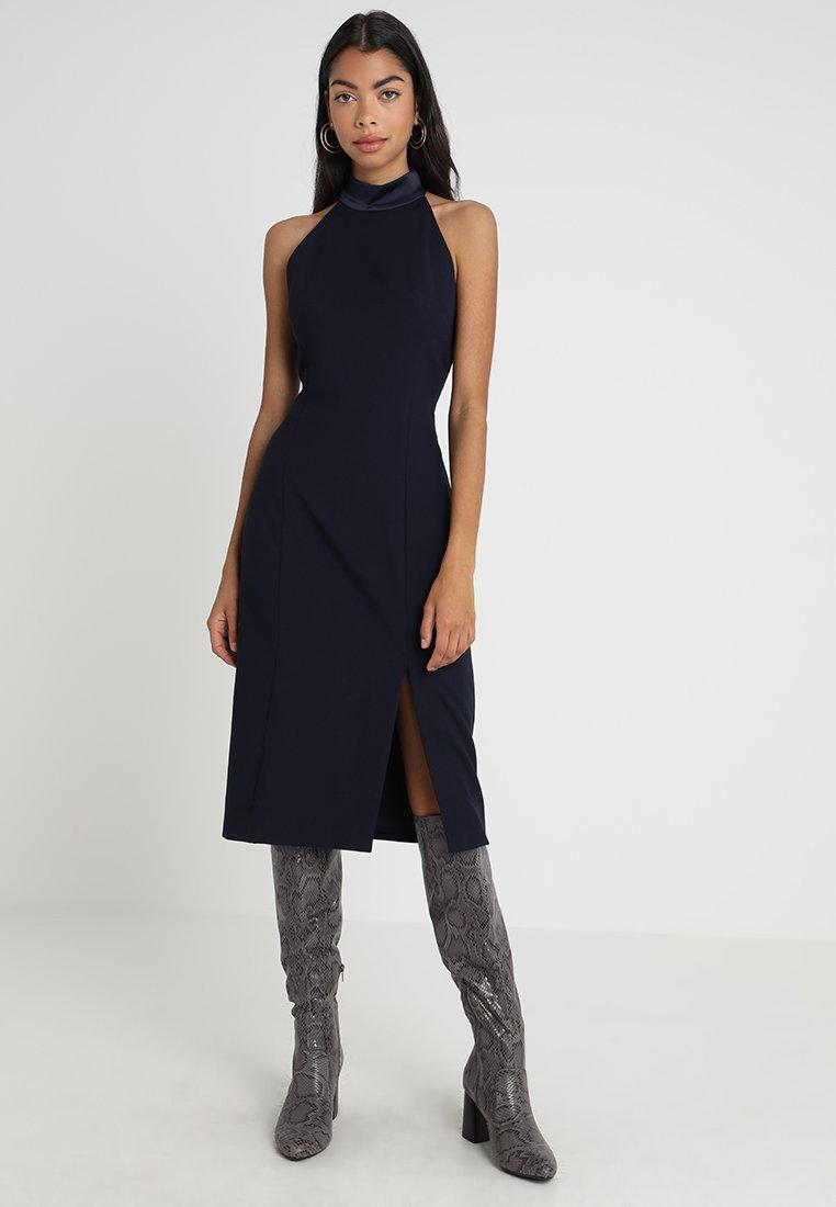 IVY & OAK - NECK DRESS - Etui-jurk - navy blue