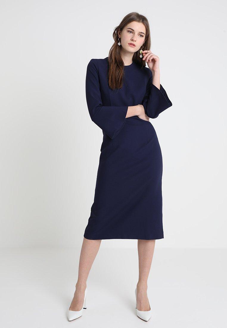 IVY & OAK - TRUMPET SLEEVE DRESS - Etui-jurk - true blue