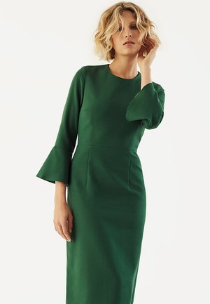 TRUMPET SLEEVE DRESS - Sukienka etui - eden green