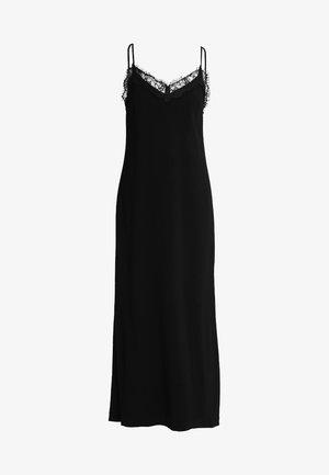 LINGERIE DRESS - Vestito lungo - black