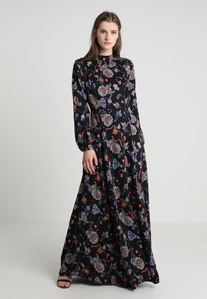 PRINTED LONG EVENING DRESS - Robe de cocktail - black