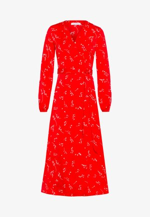 PRINTED WRAP  - Robe longue - light red