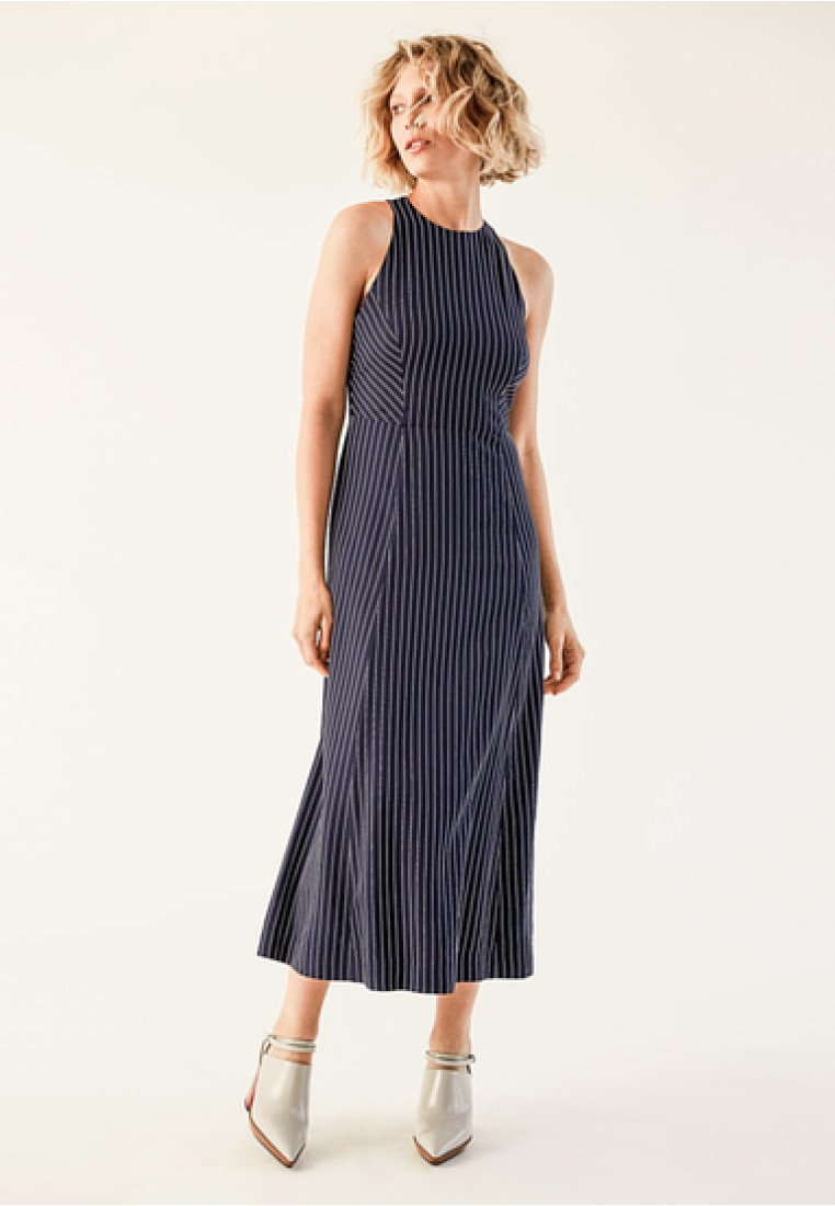 IVY & OAK - DRESS PINSTRIPES - Maxikleid - blue